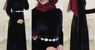 Siyah Tesettur Abiye Elbise Modelleri 1