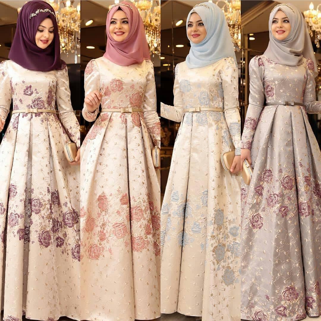 Tesettür Abiye Elbise Mağazaları 1 - En Şık Pınar Şems Tesettür Abiye Elbise Modelleri