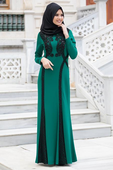 Tesettürlü Mezuniyet Elbiseleri 1 - 2018 Minel Aşk Gamze Özkul Abiye Modelleri