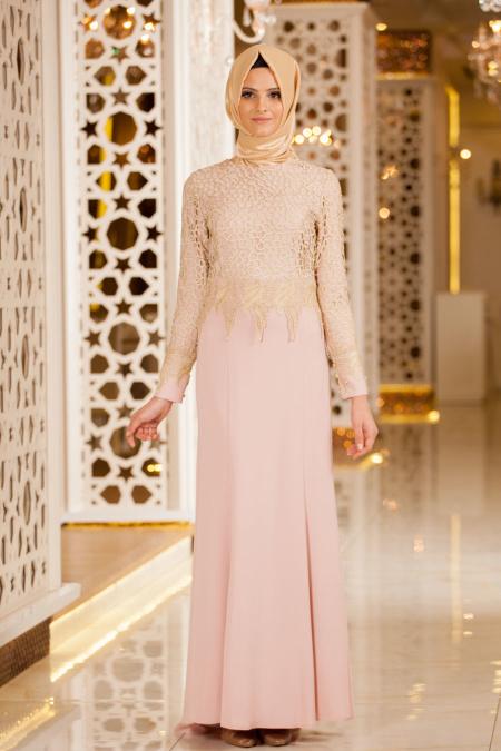 Tesettürlü Mezuniyet Elbiseleri 2 - 2018 Minel Aşk Gamze Özkul Abiye Modelleri