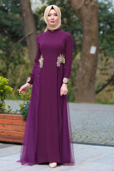 Tesettürlü Mezuniyet Elbiseleri 3 - 2018 Minel Aşk Gamze Özkul Abiye Modelleri