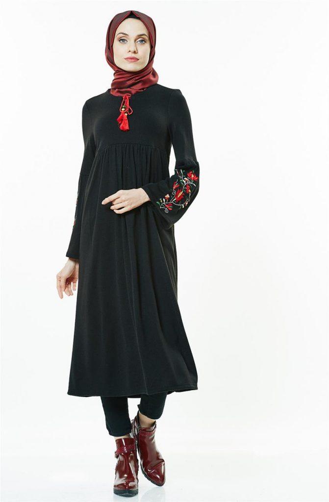 Tesettur Triko Elbise Modelleri 1