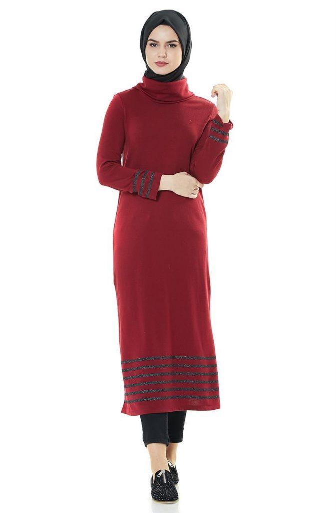 Tesettur Triko Elbise Modelleri 4