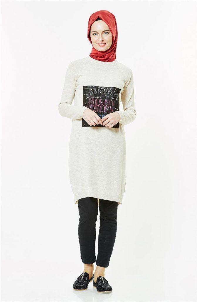 Tesettur Triko Elbise Modelleri 5