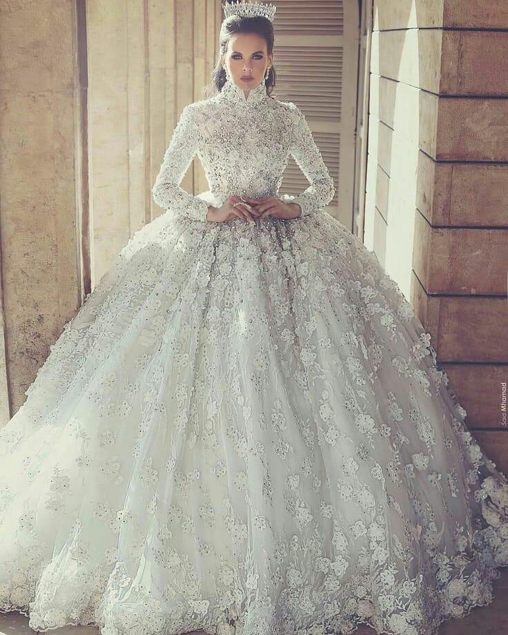 Tesetturlu Prenses Modellerinde 2018 Trendi 4 - Tesettürlü Prenses Gelinlik Modellerinde 2018 Trendi
