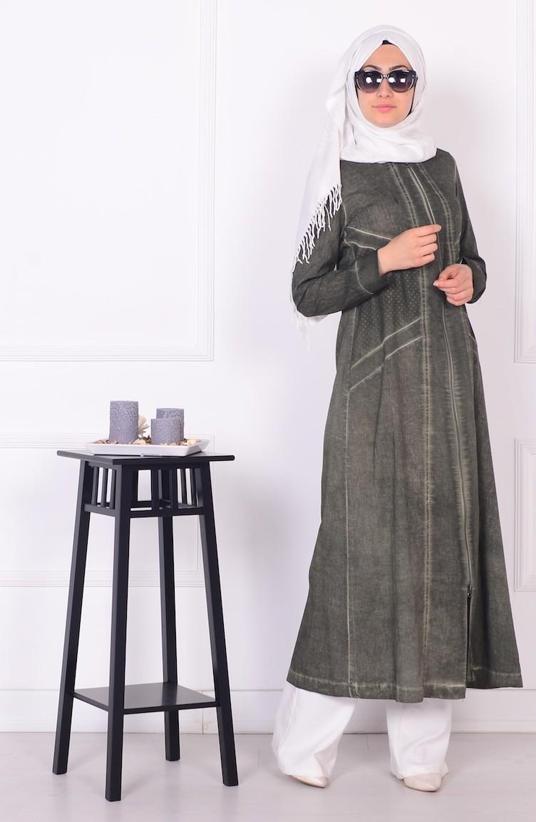 sefamerve kadife ferace - 2018 Sefamerve Elbise Modelleri