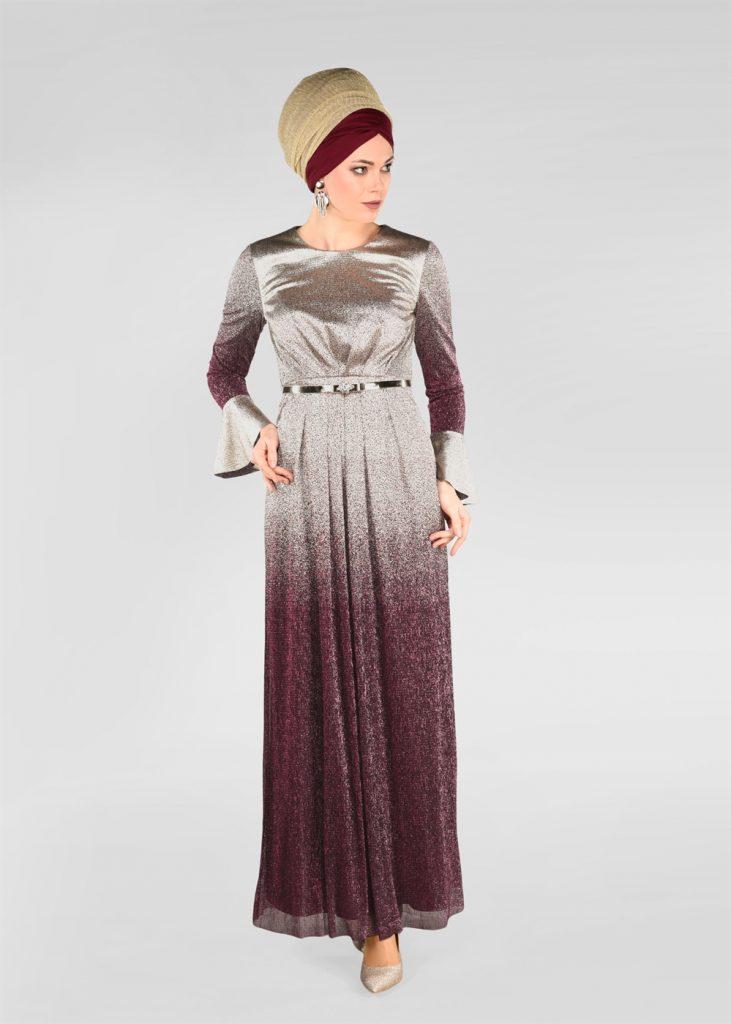 2018 Alvina Abiye Elbise Modelleri foil baskili abiye