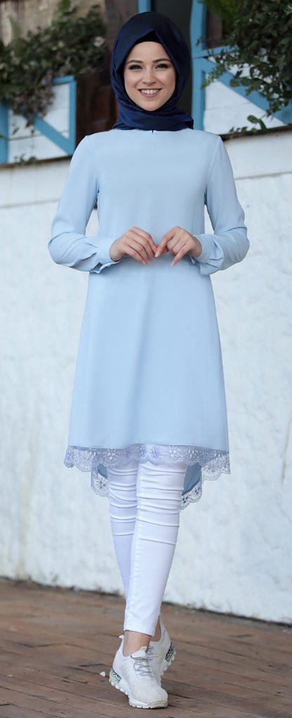 2018 Genc Tesettur Giyim Modelleri lima tunik bebe mavisi 2 e1523438067538 416x1024 - En Şık 2018 Tunik Modelleri