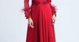 2018 Gonul Kolat Abiye Elbise Kreasyonu TUYLU FIRFIRLI ABIYE e1523099535641