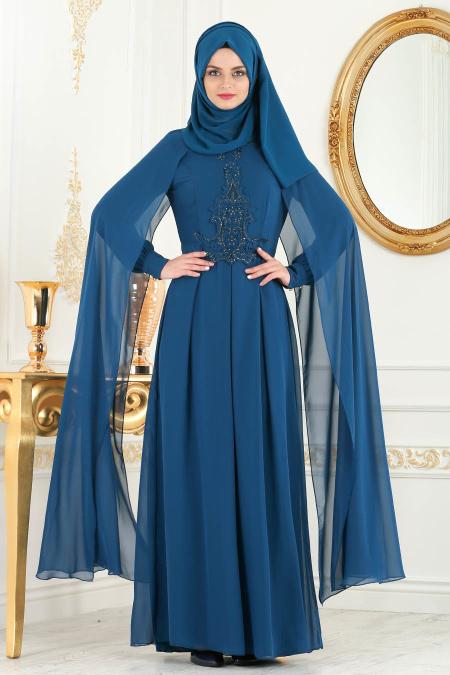 2018 Koton Tesettur Abiye Elbise Modelleri 10