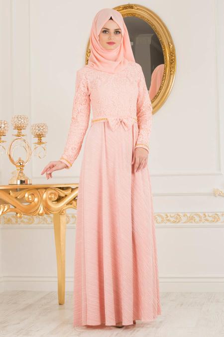 2018 Koton Tesettur Abiye Elbise Modelleri 14