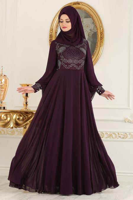 2018 Koton Tesettur Abiye Elbise Modelleri 15