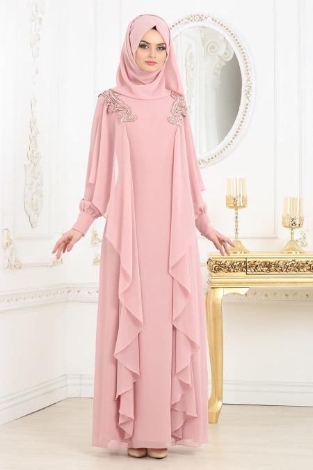2018 Koton Tesettur Abiye Elbise Modelleri 7