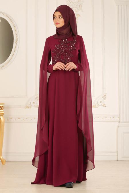 b610da246fae0 2018 Soz Abiye Elbise Modelleri elbise tasli murdum tesettur abiye elbise