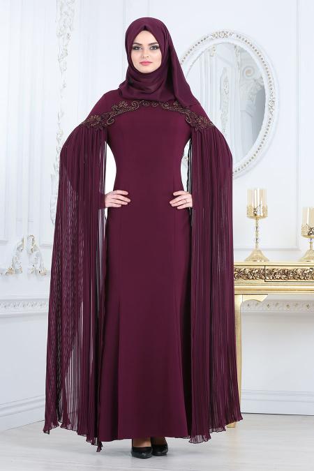 2018 Soz Abiye Elbise Modelleri-pelerini-piliseli-murdum-tesettur-abiye-elbise