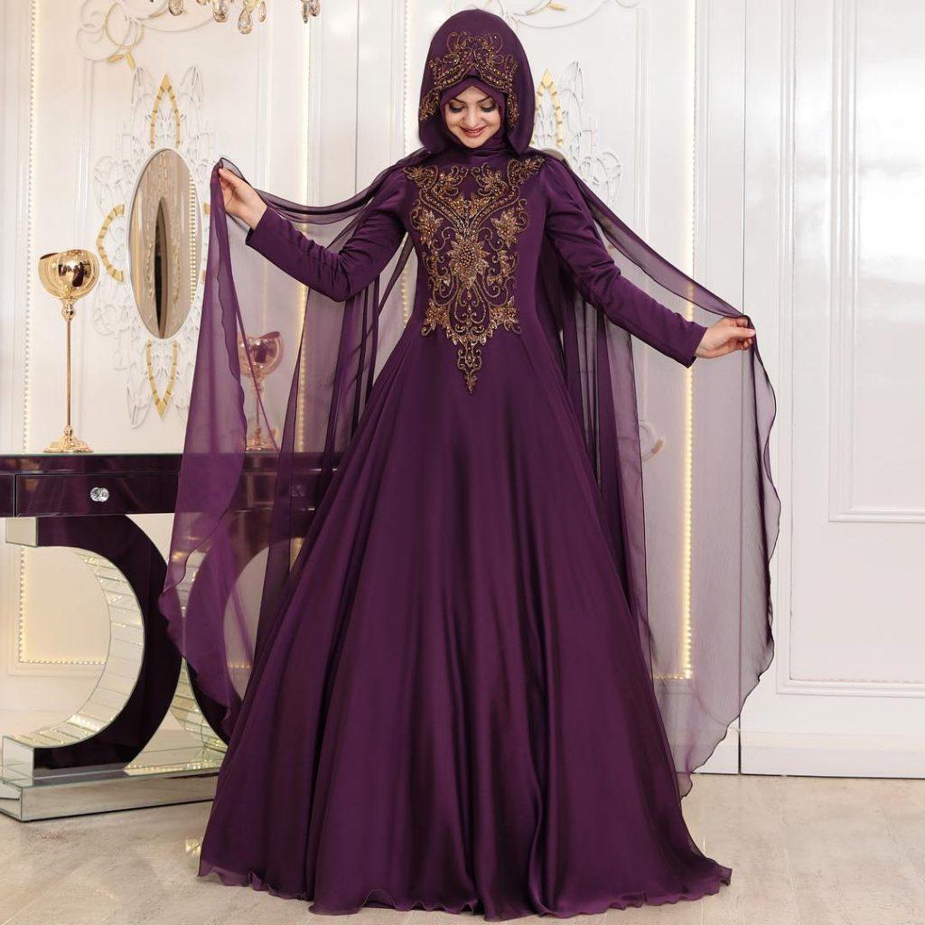 2018 Tesettur Elbise Modelleri Sura Mor