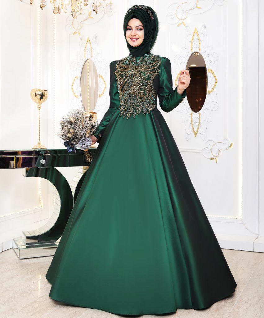 En Begenilen Tesettur Abiye Elbise 5