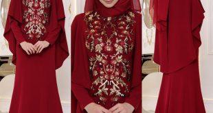 En Sik Pelerinli Tesettur Abiye Elbise Modelleri
