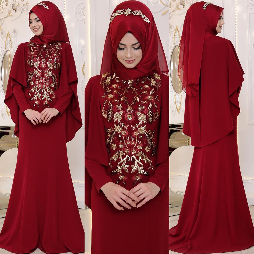 e5c18a552623d En Şık Pelerinli Tesettür Abiye Elbise Modelleri - Tesettür Elbiseleri