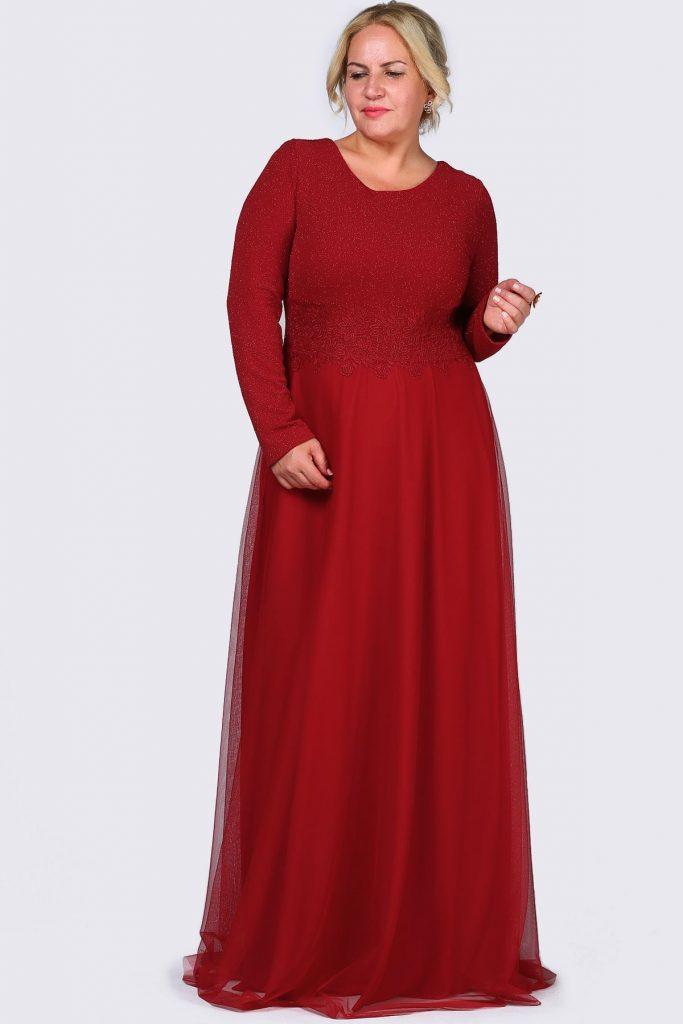 Patirti.com Buyuk Beden Abiye Elbise Modelleri 1