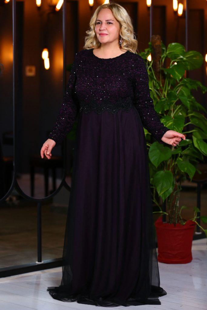 Patirti.com Buyuk Beden Abiye Elbise Modelleri 14