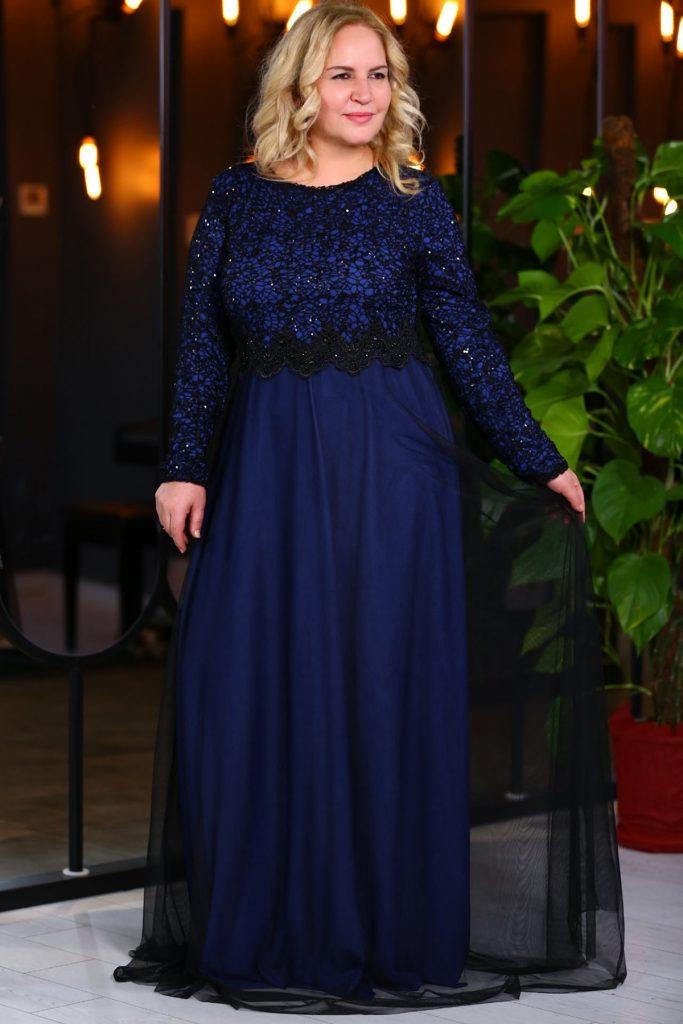 Patirti.com Buyuk Beden Abiye Elbise Modelleri 15