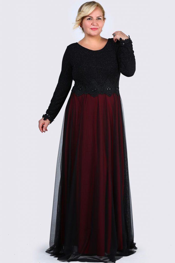Patirti.com Buyuk Beden Abiye Elbise Modelleri 4 683x1024 - En Şık Patirti.com Tesettür Abiye Elbise Modelleri