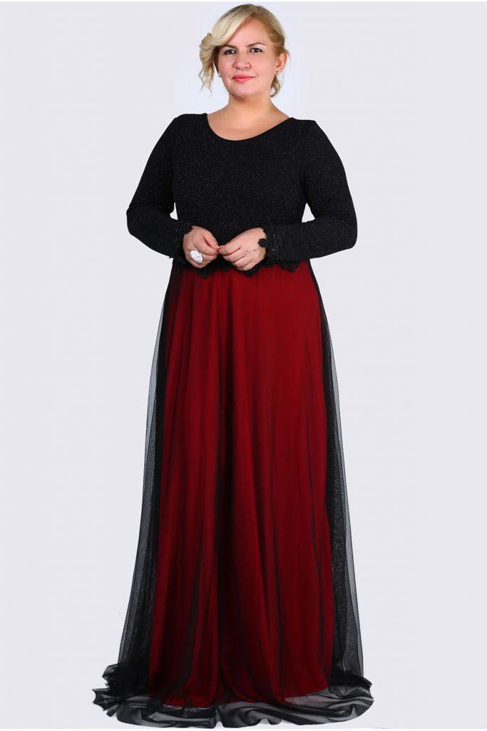 Patirti.com Buyuk Beden Abiye Elbise Modelleri 6 683x1024 - En Şık Patirti.com Tesettür Abiye Elbise Modelleri