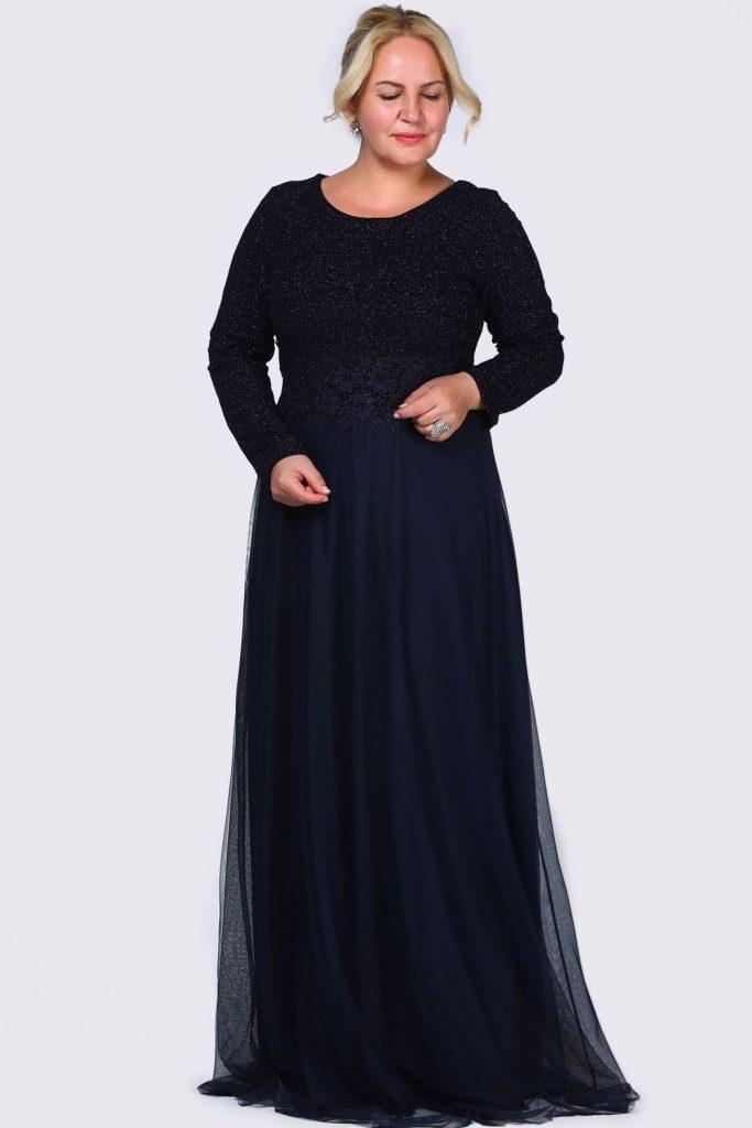 Patirti.com Buyuk Beden Abiye Elbise Modelleri 683x1024 - En Şık Patirti.com Tesettür Abiye Elbise Modelleri