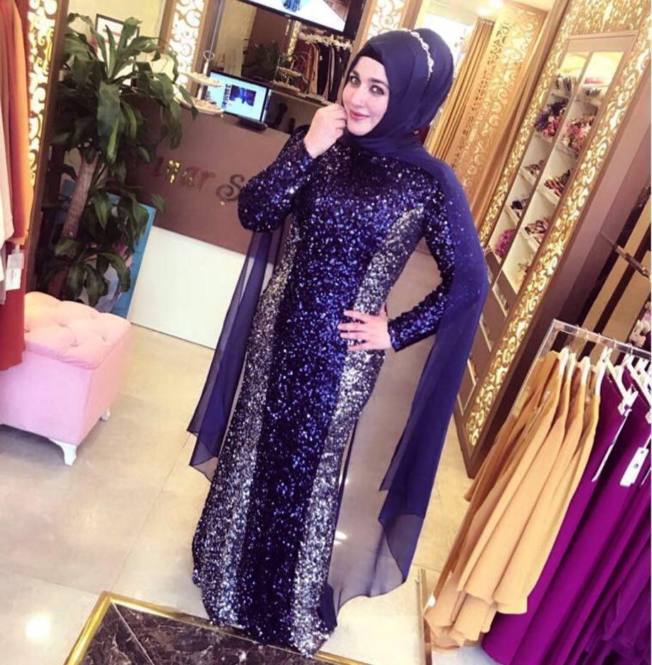 Simli Tesettür Abiye Elbise Modelleri 1