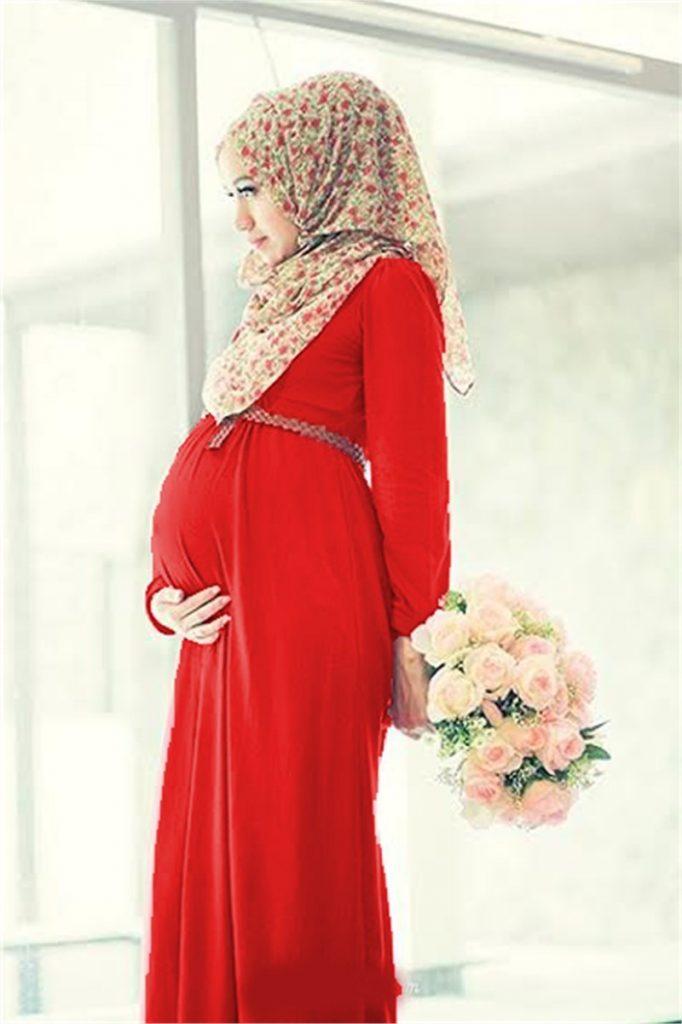 Tesettur Hamile Abiye Elbise Modelleri 1 682x1024 - Tesettür Hamile Abiye Elbise Modelleri