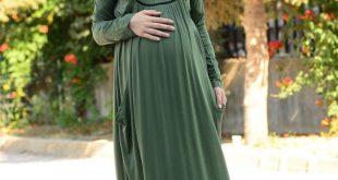 Tesettur Hamile Abiye Elbise Modelleri 2
