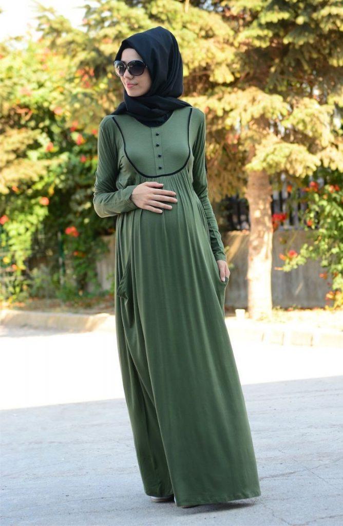Tesettur Hamile Abiye Elbise Modelleri 2 668x1024 - Tesettür Hamile Abiye Elbise Modelleri