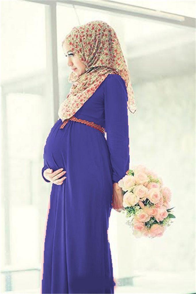 Tesettur Hamile Abiye Elbise Modelleri 682x1024 - Tesettür Hamile Abiye Elbise Modelleri