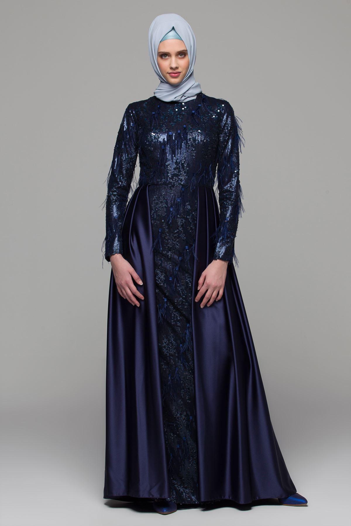 2018 Armine Tesettur Abiye Elbise Modelleri 10