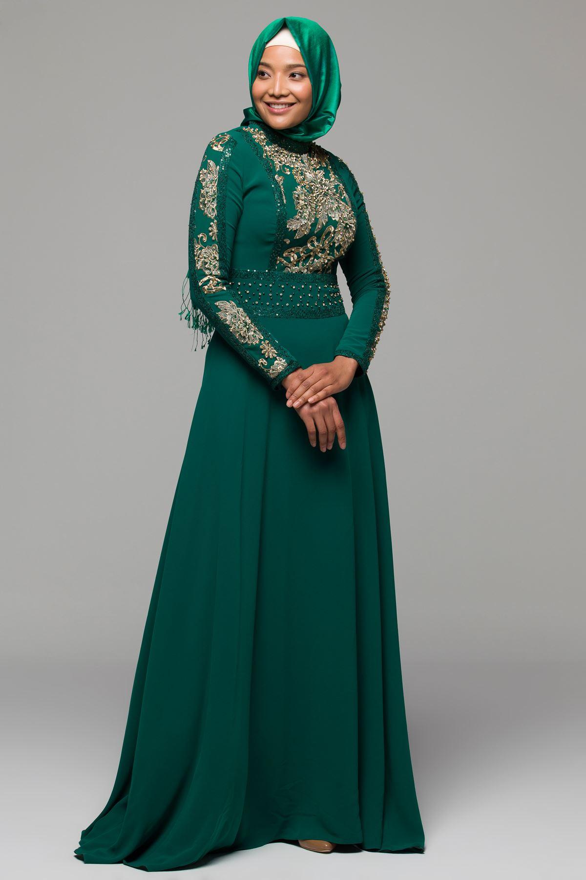 2018 Armine Tesettur Abiye Elbise Modelleri 3