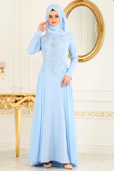 2018 Defacto Tesettur Abiye Elbise Modelleri-dantel-detayli-bebe-mavisi