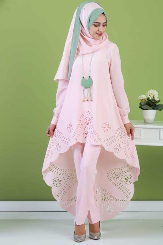 2018 Genc Tesettur Abiye Elbise Modelleri-tunik-pantalon-sal-kolye-kombin-pudra