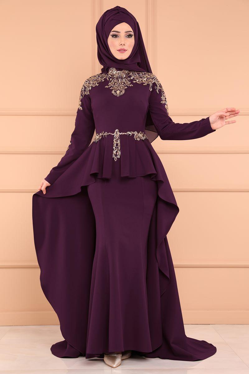 2018 Modaselvim.Com Tesettur Abiye Elbise Modelleri-kuyruklu-mor-