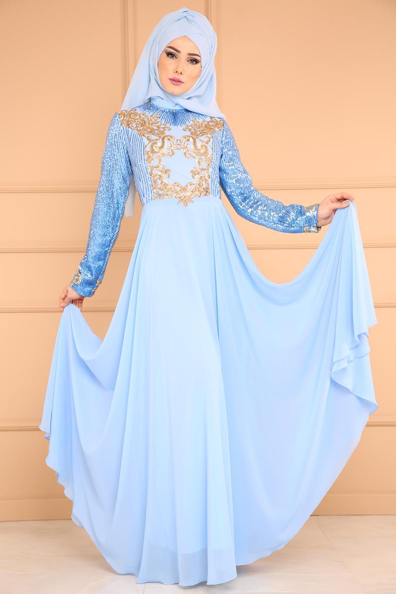 2018 Modaselvim.Com Tesettur Abiye Elbise Modelleri-payetli-sifon-bebe-mavisi