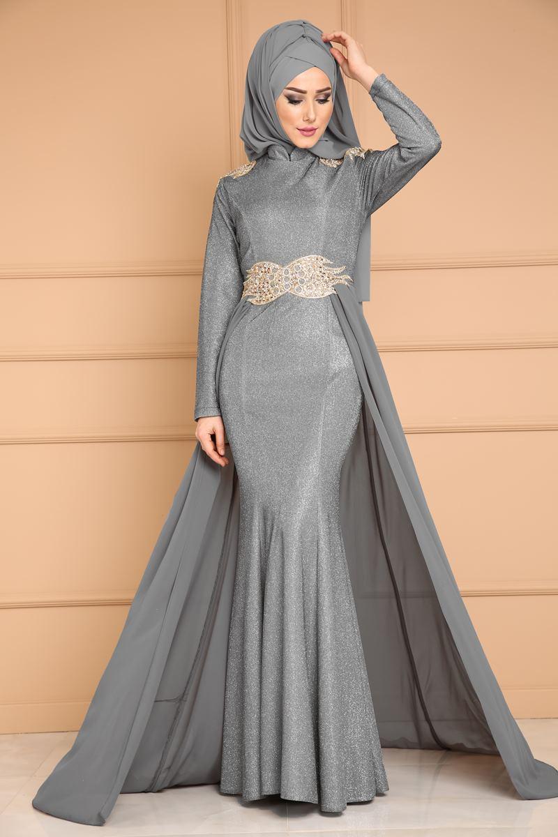 2018 Modaselvim.Com Tesettur Abiye Elbise Modelleri-sifon-kuyruklu-isiltili-gri