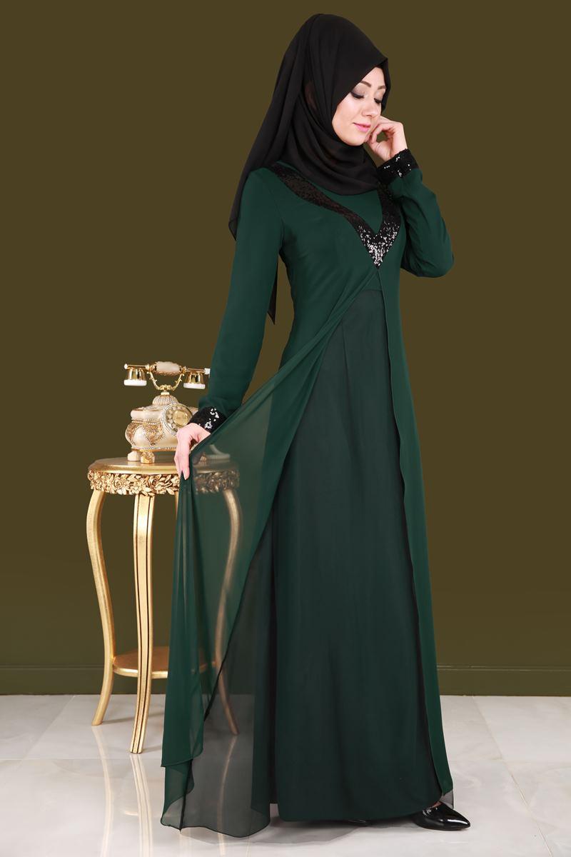 2018 Modaselvim.Com Tesettur Abiye Elbise Modelleri-sifon-tullu-zumrut