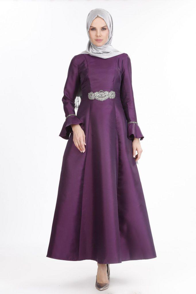 2018 SETRMS Tesettur Abiye Elbise Modelleri 3