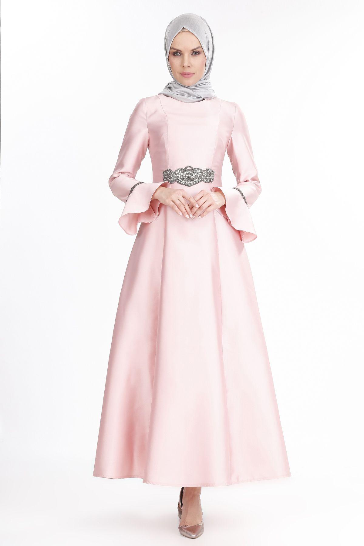 2018 SETRMS Tesettur Abiye Elbise Modelleri 4