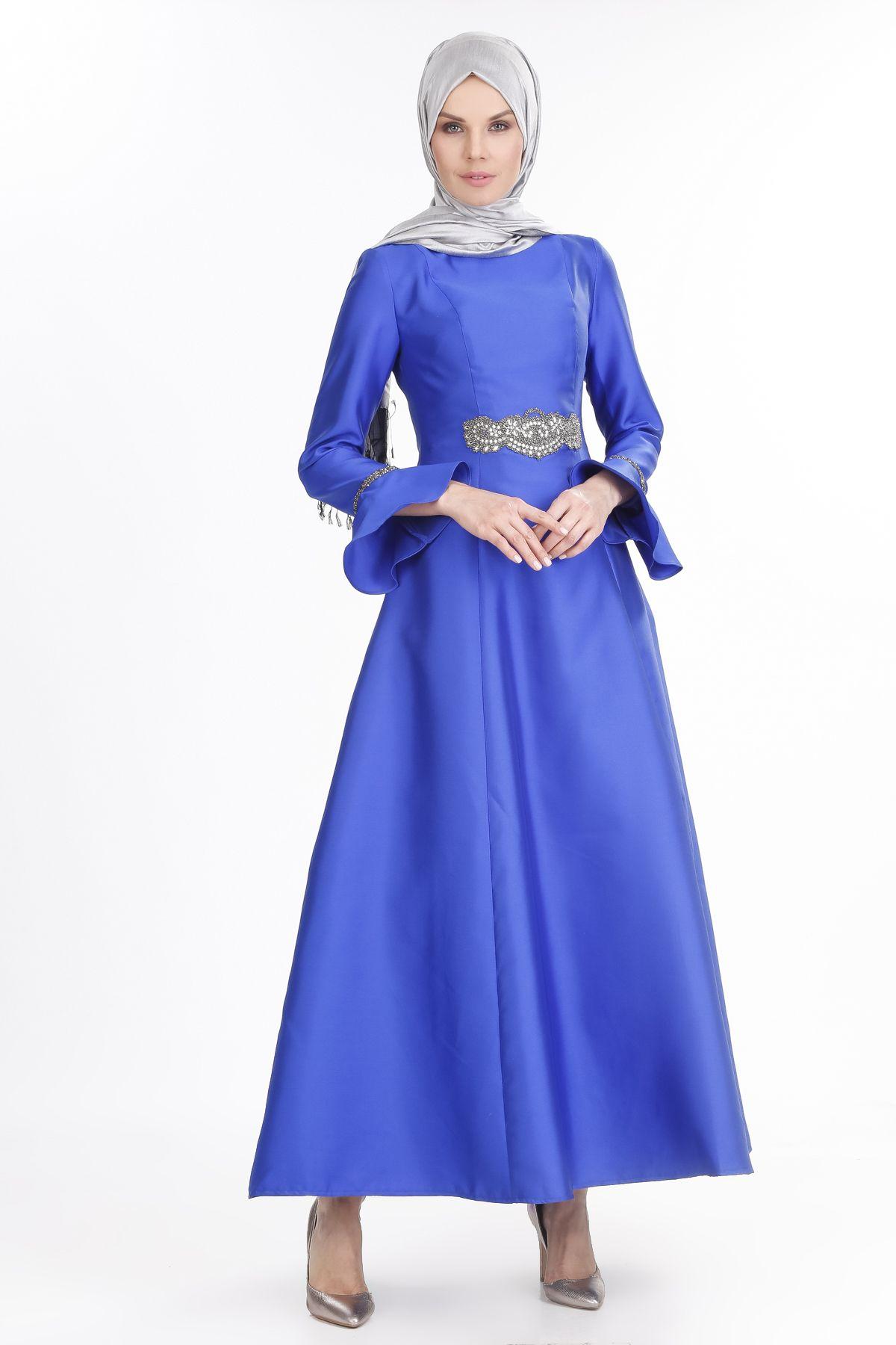 2018 SETRMS Tesettur Abiye Elbise Modelleri 5