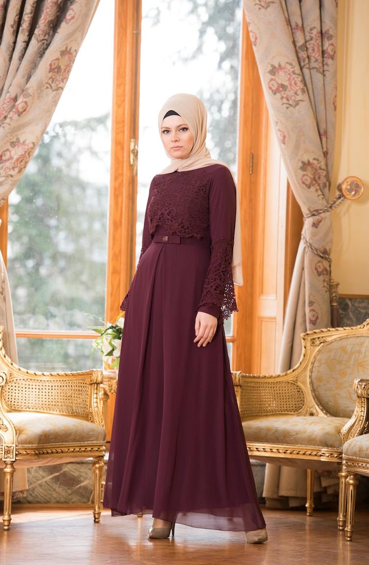 2018 Sefamerve.com Tesettur Abiye Elbise Modelleri murdum