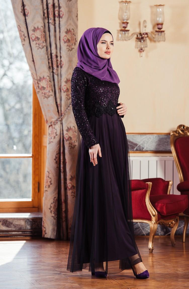 2018 Sefamerve.com Tesettur Abiye Elbise Modelleri siyah
