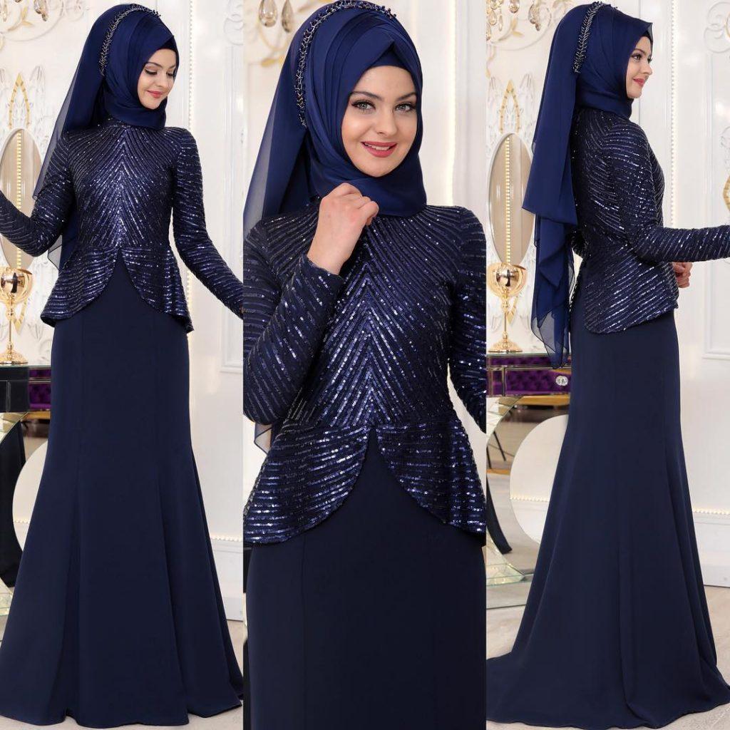 2018 Tesettur Sunnet Annesi Abiye Elbise Modelleri 3