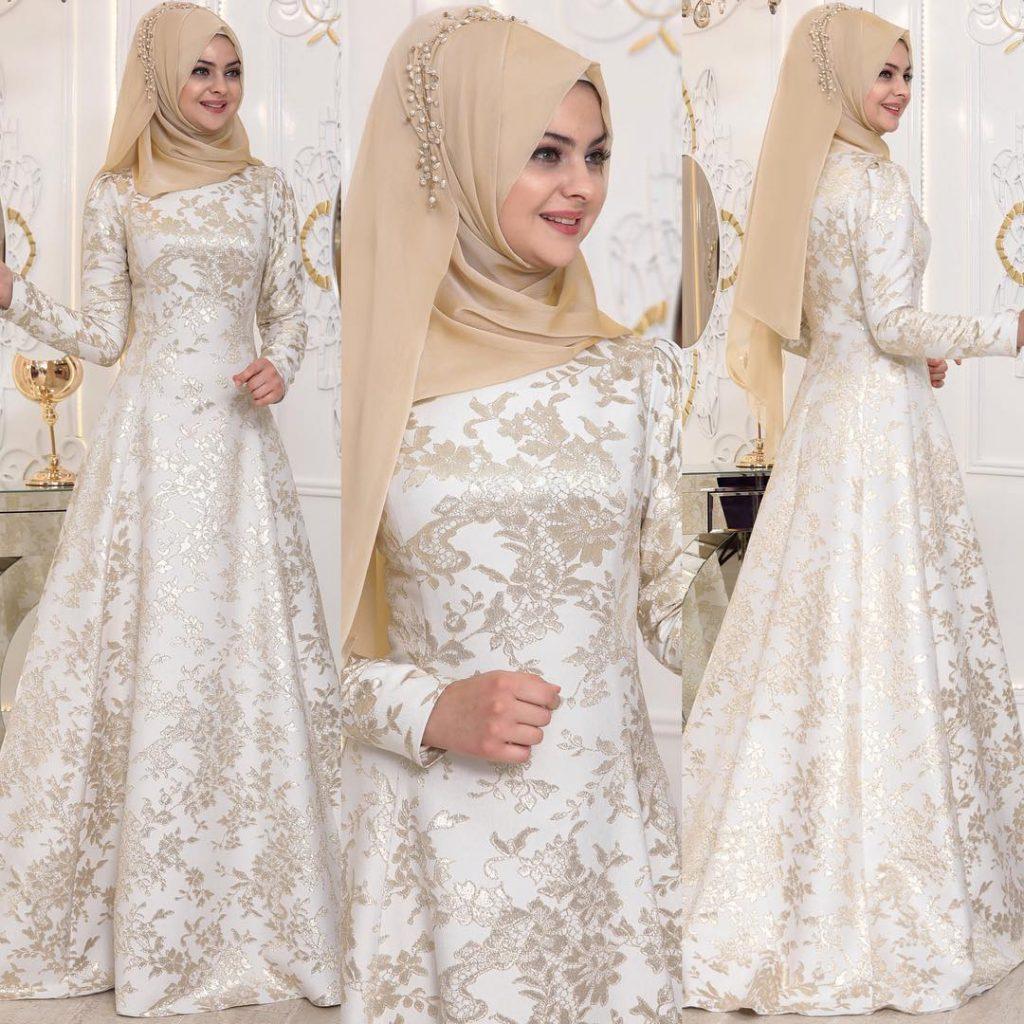 2018 Tesettur Sunnet Annesi Abiye Elbise Modelleri 4