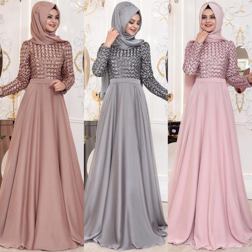 2018 Tesettur Sunnet Annesi Abiye Elbise Modelleri 6